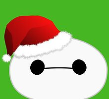 Baymax Head with Santa Hat by Ztw1217
