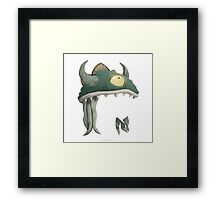 Glitch Masks Trimmed Lem Mask Framed Print