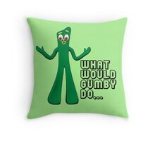 GUMBY Throw Pillow