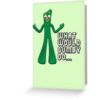 GUMBY Greeting Card