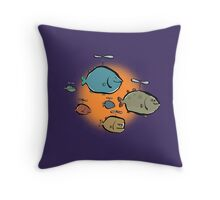 helicopter fishes are coming! Throw Pillow
