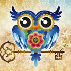 Spring Guardian Owl by sandygrafik