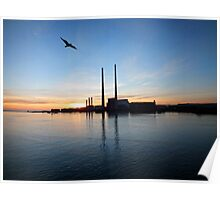 Factory in Dublin Harbour Poster