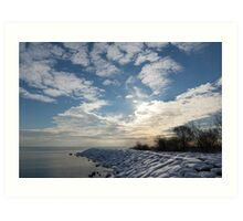 Brilliant Sunshine After the Snowstorm – a Winter Beach on Lake Ontario Art Print