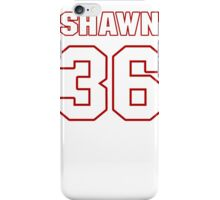 NFL Player Shawn Williams thirtysix 36 iPhone Case/Skin