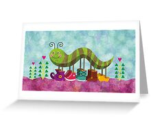 Catty Caterpillar Greeting Card