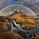 Rainbow over Kirkjufell by Peter Hammer