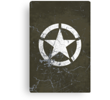 Vintage Look US Army White Star Emblem Canvas Print