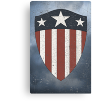 Vintage Look USA WW2 Captain America Style Shield Canvas Print