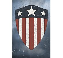 Vintage Look USA WW2 Captain America Style Shield Photographic Print
