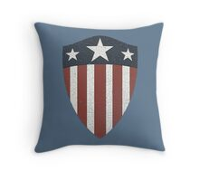Vintage Look USA WW2 Captain America Style Shield Throw Pillow