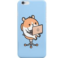 Laptop Hammie - hamster with laptop computer  iPhone Case/Skin