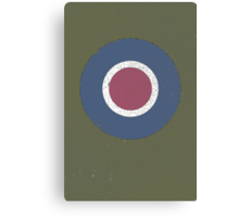 Vintage Look WW2 British Royal Air Force Roundel Canvas Print