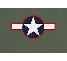 Vintage Look US Forces Roundel 1943 Photographic Print