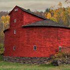Red Round Barn by Deborah  Benoit