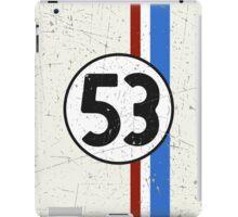 Vintage Look 53 Car Race Number Graphic iPad Case/Skin