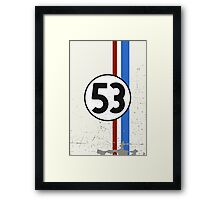 Vintage Look 53 Car Race Number Graphic Framed Print