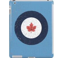 Vintage Look WW2 Royal Canadian Air Force Roundel iPad Case/Skin