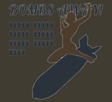 Vintage Look Bombs Away Pin-up Girl Art T-Shirt