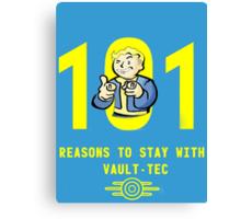 Vault Boy's 101 Reasons For Vault-Tec Canvas Print