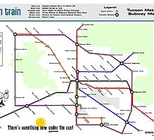 Sun Train - Tucson Metro Subway Map by jcharlesw