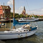 Barth Harbour, Mecklenburg Western Pomerania, Germany. by David A. L. Davies