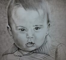 Little Prince George Portrait Drawing by LG-Multi-Art