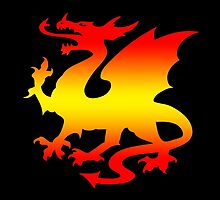 Hot Fire Dragon Design by LuckDragonGifts