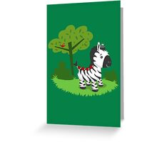 ZEBRA ROAD Greeting Card