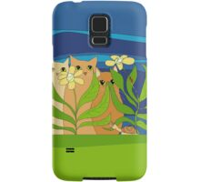 Three Cats, Two Flowers, One Snail and A Ladybug Samsung Galaxy Case/Skin