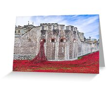 Poppies at The Tower Of London Greeting Card