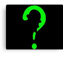 Riddler question mark Canvas Print