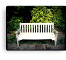 A Day At The Arboretum #5 - Take A Seat Canvas Print