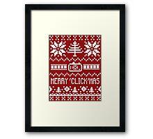 Ugly Christmas Sweater - Camera / Merry 'Click'Mas Framed Print