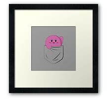Pink cutie in your pocket Framed Print