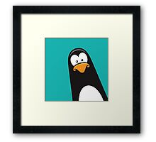 Pablo the Pensive Penguin Framed Print