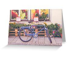 Market Bicycle Greeting Card