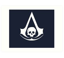Assassin's Creed IV Black Flag Logo Art Print