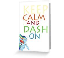 Dash On Greeting Card