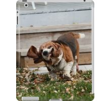 Stop giggling! My face doesn't obey gravity as well as the rest of me! iPad Case/Skin