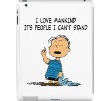 Linus quote iPad Case/Skin