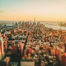 New York City - Skyline at Sunset by Vivienne Gucwa