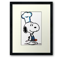 Cooking Snoopy Framed Print