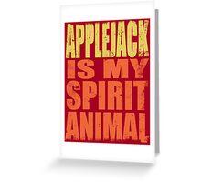 AppleJack is my Spirit Animal Greeting Card