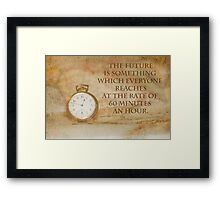Pocket Watch Time Quote  Framed Print