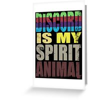 Discord is my Spirit Animal Greeting Card