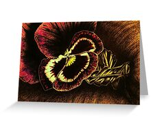 Burgundy Pansy Greeting Card