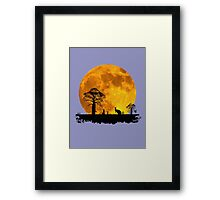 Outback Moonrise Framed Print