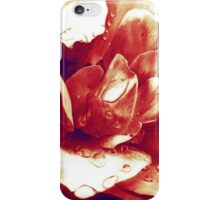 Red rose at the morning with water drops iPhone Case/Skin