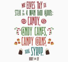 Buddy the Elf - The Four Main Food Groups T-Shirt